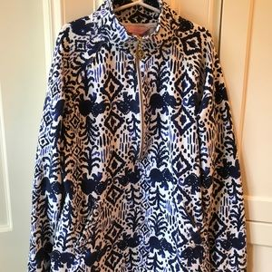 """Lilly Pulitzer """"Tons Of Fun"""" Half zip Popover"""